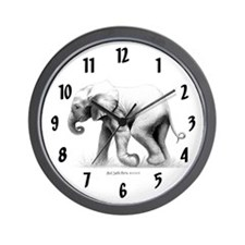Baby Elephant Wall Clock