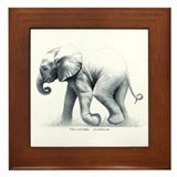 Baby Elephant Framed Tile