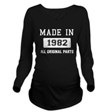 Made In 1982 Long Sleeve Maternity T-Shirt