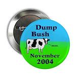 Dump Bush Moo Cow Button (100 pack)