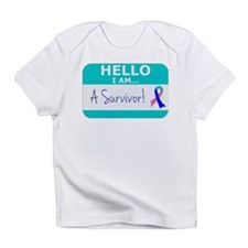 Thyroid Cancer Hello Survivor Infant T-Shirt