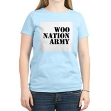 Woo Women's Colored With Slogan On Back T-Shirt