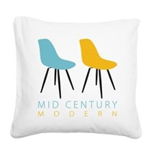 Mid Century Modern Chairs Square Canvas Pillow