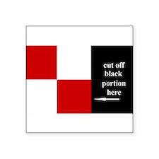 US Naval Flag Code Uniform Sticker