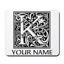 Custom Decorative Letter K Mousepad
