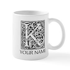 Custom Decorative Letter K Mugs