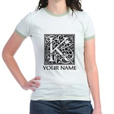 Custom Decorative Letter K T-Shirt
