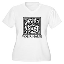 Custom Decorative Letter G Plus Size T-Shirt