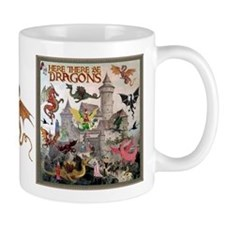 There Be Dragons Mug Mugs