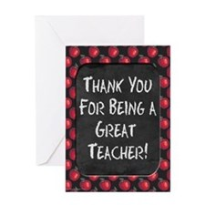 Red Apples Chalkboard Greeting Cards