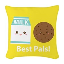 Milk-and-cookies-cafepress Woven Throw Pillow