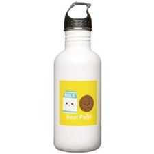 Milk-and-cookies-cafepress Water Bottle