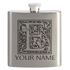 Custom Decorative Letter E Flask