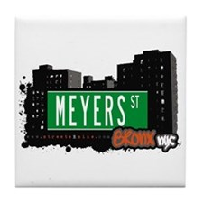 Meyers St, Bronx, NYC Tile Coaster