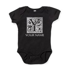 Custom Decorative Letter Y Baby Bodysuit