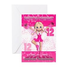 12th Birthday Cheerleader (pk Of Greeting Cards