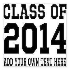"Class of 2014 Graduation Square Car Magnet 3"" x 3"""