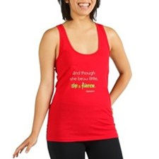 And Though She Be But Little, Racerback Tank Top