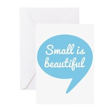 Small is beautiful blue speech bubble Greeting Car