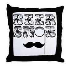Beer Snob Throw Pillow