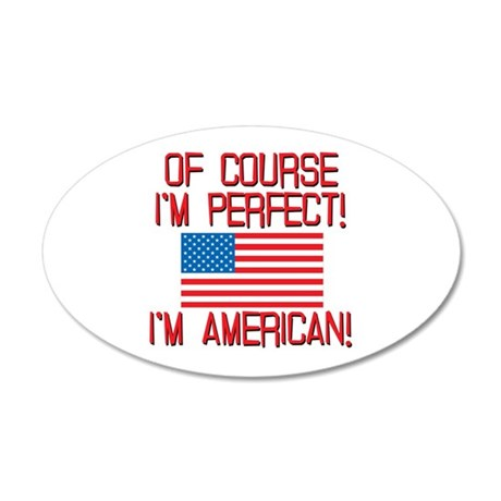 Perfect American 35x21 Oval Wall Decal