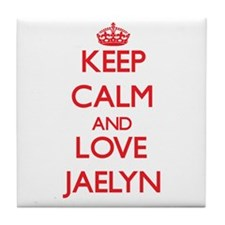 Keep Calm and Love Jaelyn Tile Coaster