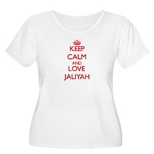 Keep Calm and Love Jaliyah Plus Size T-Shirt