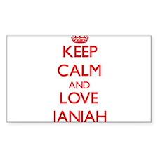 Keep Calm and Love Janiah Decal