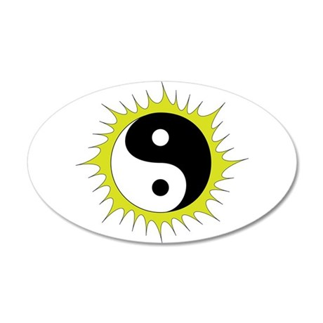 Yin Yang in front of the Sun 20x12 Oval Wall Decal