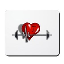 I Heart Barbell Mousepad