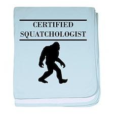 Certified Squatchologist baby blanket