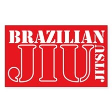 Red Bjj Sticker (rectangle)