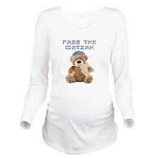 Pass the Matzah Long Sleeve Maternity T-Shirt