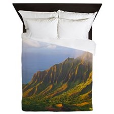 Kalalau Valley Sunset Hawaii Tropical Queen Duvet