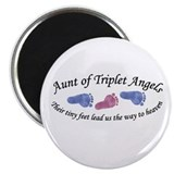 "Aunt of Triplet Angels BGB 2.25"" Magnet (10 pack)"