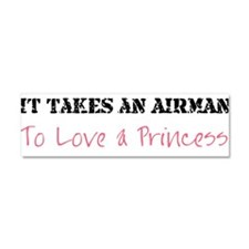 Unique Airman's girlfriend Car Magnet 10 x 3