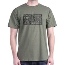 Palenque Ancient Astronaut Ufo Black T-Shirt