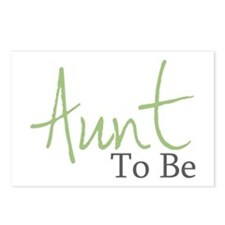 Aunt To Be (Green Script) Postcards (Package of 8)