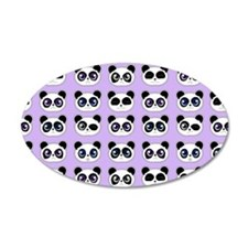 Cute Panda Expressions Patte Wall Decal
