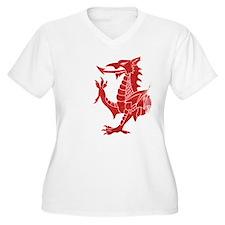 Welsh Dragon Rampant Plus Size T-Shirt