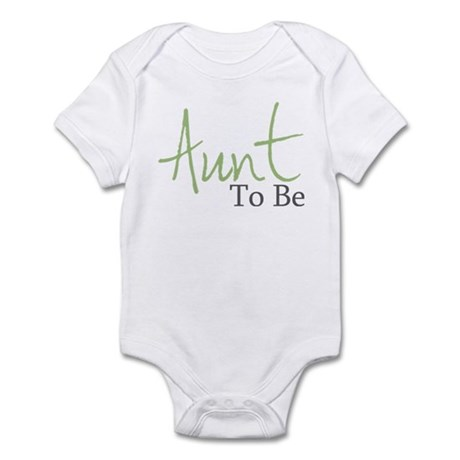 Aunt To Be (Green Script) Infant Bodysuit