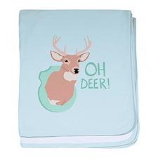 OH DEER! baby blanket