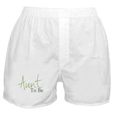Aunt To Be (Green Script) Boxer Shorts