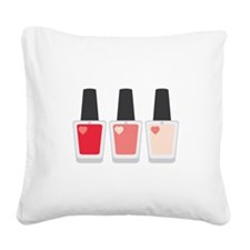 Nail Polish Manicure Square Canvas Pillow