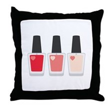 Nail Polish Manicure Throw Pillow