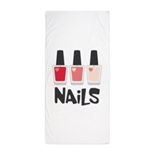 Nails Beach Towel