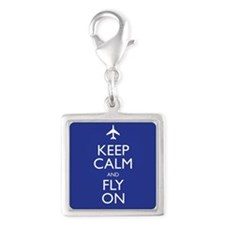 Keep Calm and Fly On Charms