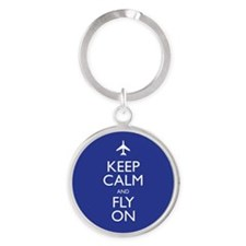 Keep Calm and Fly On Keychains