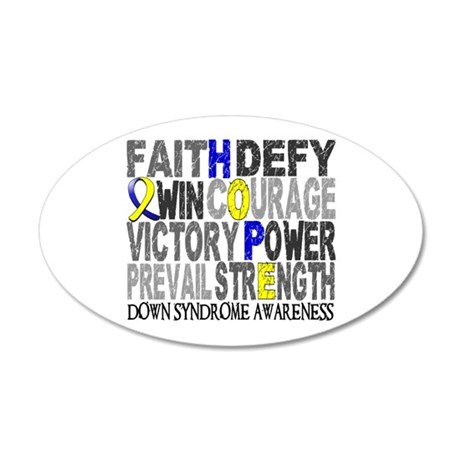 DS Hope Collage 20x12 Oval Wall Decal