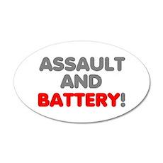 Assault Battery! Sticker 20x12 Oval Wall Decal
